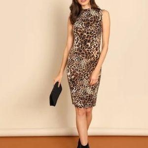 Brand NWT! Gilli boutique leopard print dress sm